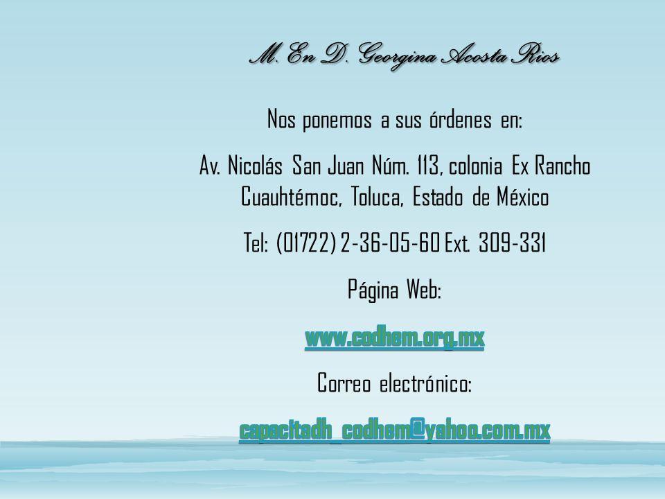 M. En D. Georgina Acosta Rios