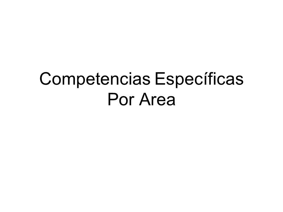 Competencias Específicas Por Area