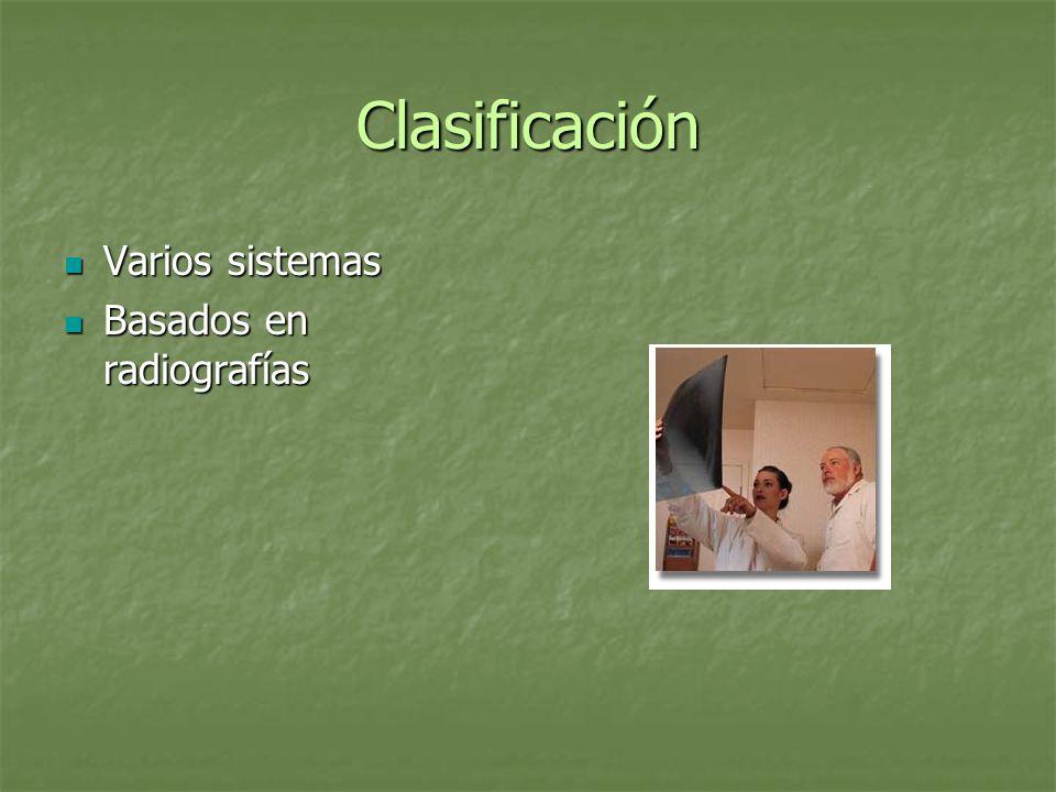 Clasificación Amstutz y Pappas Descripcion radiologica detallada de las varias formas de PDFF