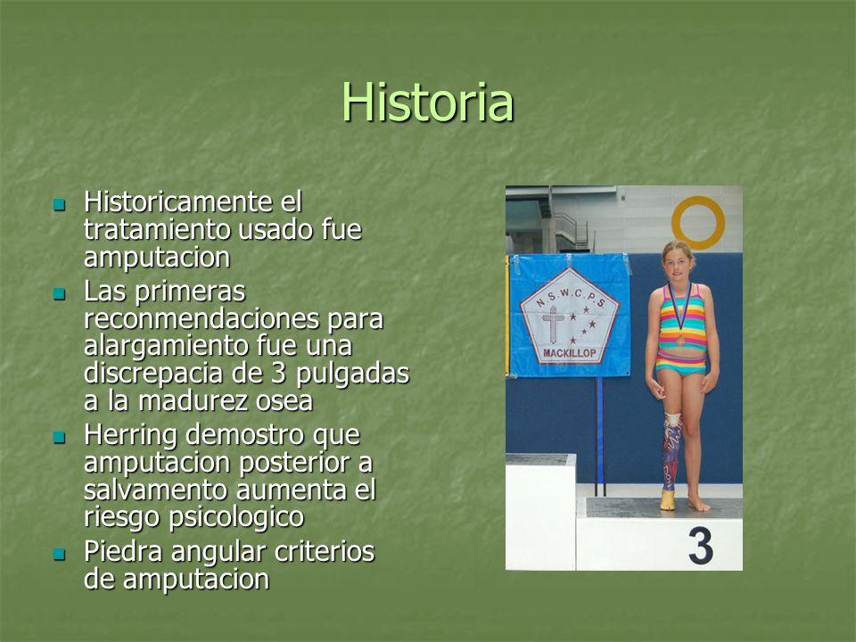 Historia Historicamente el tratamiento usado fue amputacion Historicamente el tratamiento usado fue amputacion Las primeras reconmendaciones para alar