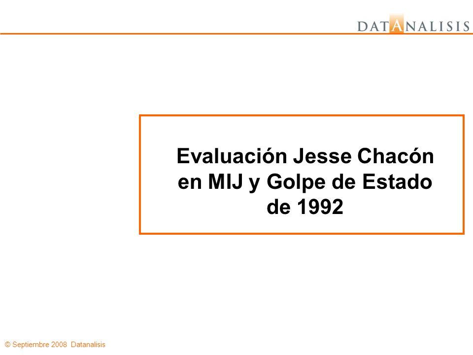 © Septiembre 2008 Datanalisis Evaluación Jesse Chacón en MIJ y Golpe de Estado de 1992