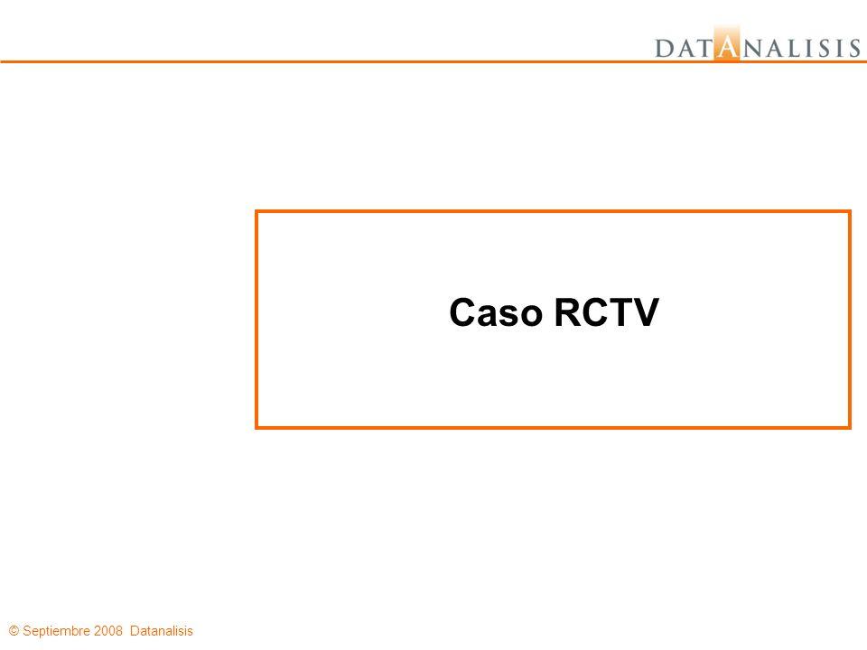 © Septiembre 2008 Datanalisis Caso RCTV