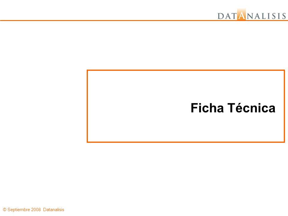 © Septiembre 2008 Datanalisis Ficha Técnica