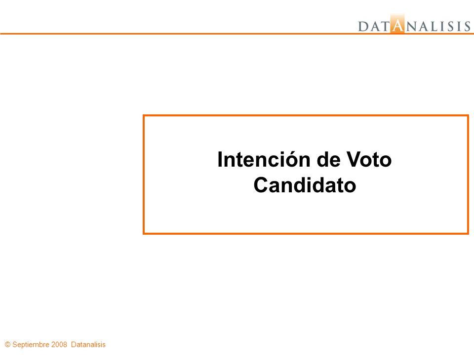© Septiembre 2008 Datanalisis Intención de Voto Candidato