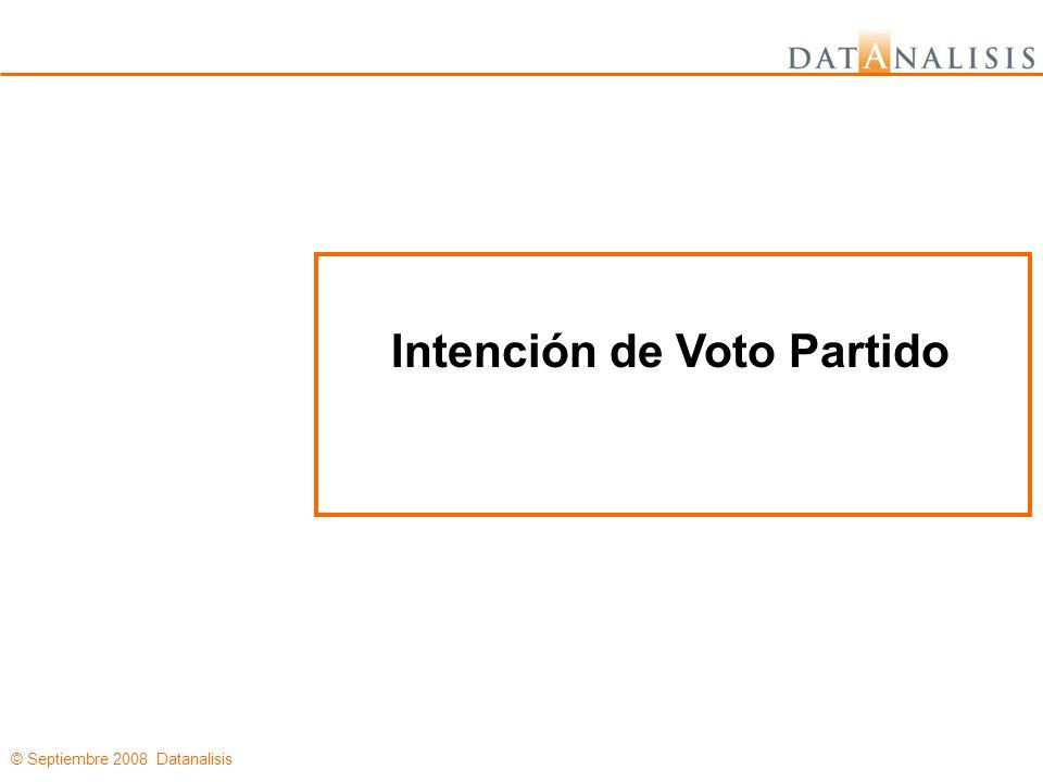 © Septiembre 2008 Datanalisis Intención de Voto Partido
