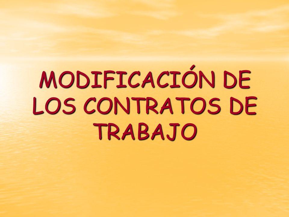 El Estatuto de los Trabajadores recoge 3 supuestos por los que el empresario (OJO: NO EL TRABAJADOR!!!) puede modificar los contratos de trabajo: El Estatuto de los Trabajadores recoge 3 supuestos por los que el empresario (OJO: NO EL TRABAJADOR!!!) puede modificar los contratos de trabajo: MOVILIDAD FUNCIONAL MOVILIDAD GEOGRÁFICA MODIFICACIONES SUSTANCIALES DE LAS CONDICIONES DE TRABAJO.