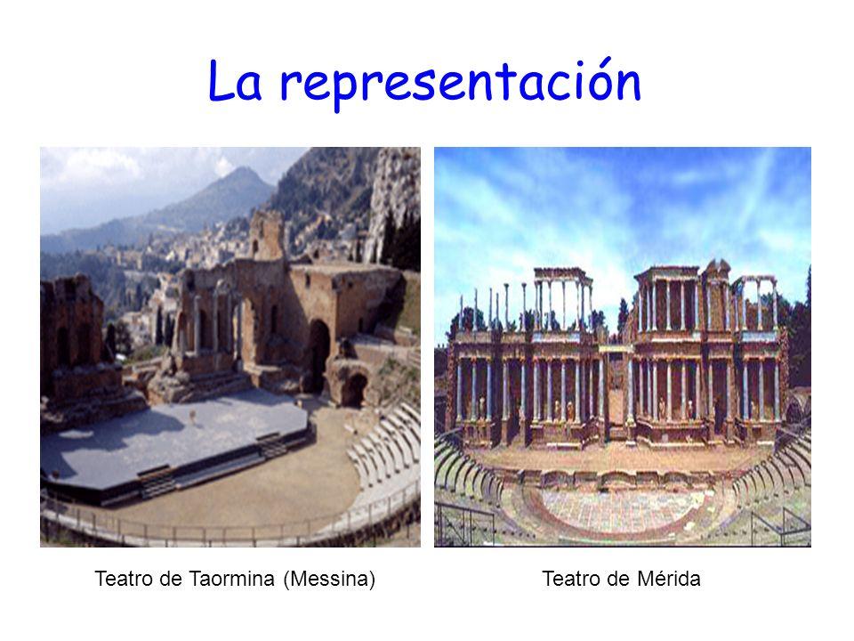 La representación Teatro de Taormina (Messina)Teatro de Mérida