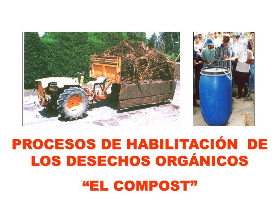 PROCESOS DE HABILITACIÓN DE LOS DESECHOS ORGÁNICOS EL COMPOST