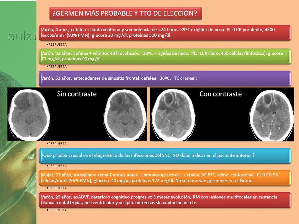 Curso 2012 1 Varón, 47 años, 2-3 crisis nocturnas en los últimos 4 días de dolor parietal y retroocular derechos con lagrimeo y congestión nasal EVA=10.