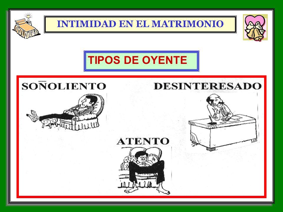 INTIMIDAD EN EL MATRIMONIO 7 TIPOS DE OYENTE