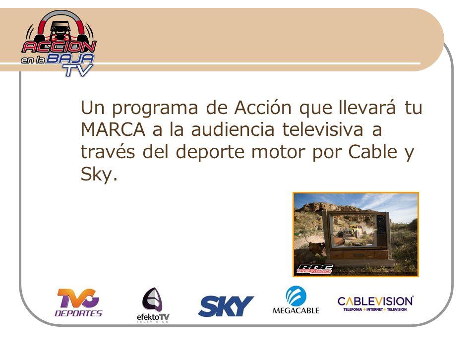 Un programa de Acción que llevará tu MARCA a la audiencia televisiva a través del deporte motor por Cable y Sky.