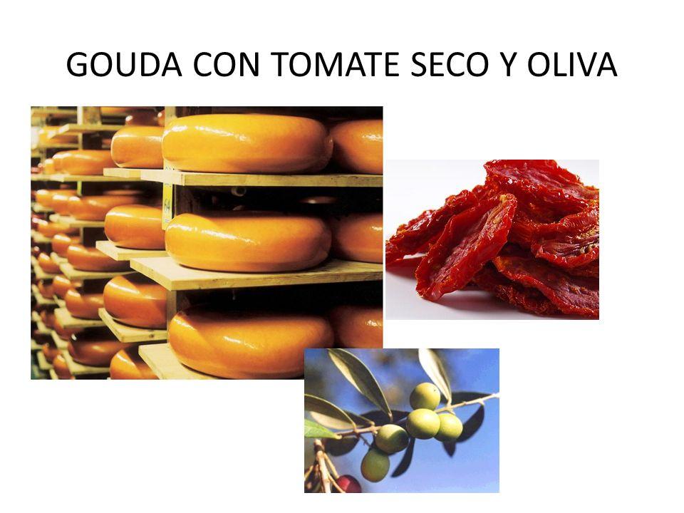 GOUDA CON TOMATE SECO Y OLIVA