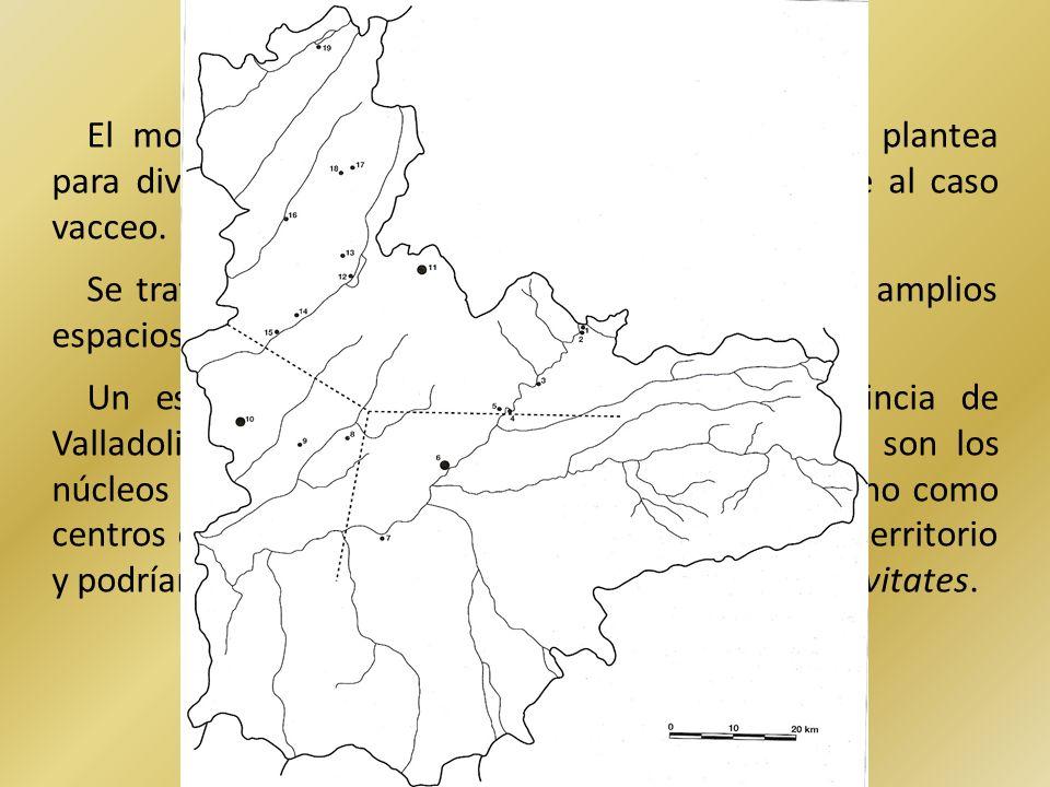 El modelo de poblamiento jerarquizado que se plantea para diversas regiones peninsulares no es aplicable al caso vacceo. Se trataría en suma de ciudad