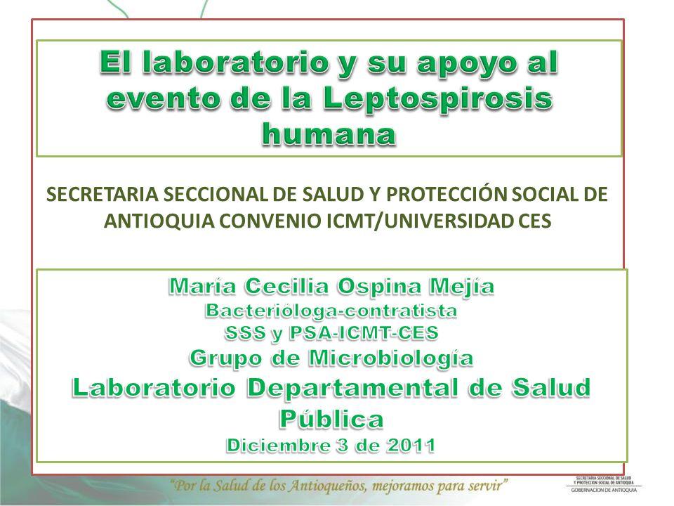 SECRETARIA SECCIONAL DE SALUD Y PROTECCIÓN SOCIAL DE ANTIOQUIA CONVENIO ICMT/UNIVERSIDAD CES