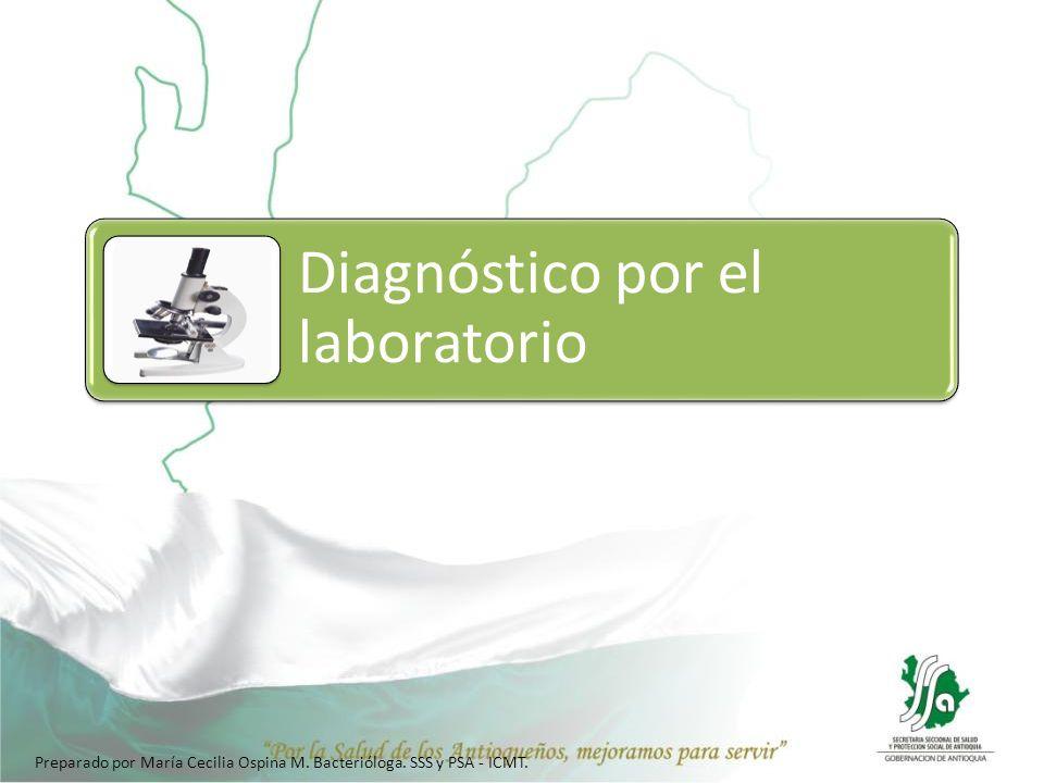 Diagnóstico por el laboratorio Preparado por María Cecilia Ospina M. Bacterióloga. SSS y PSA - ICMT.