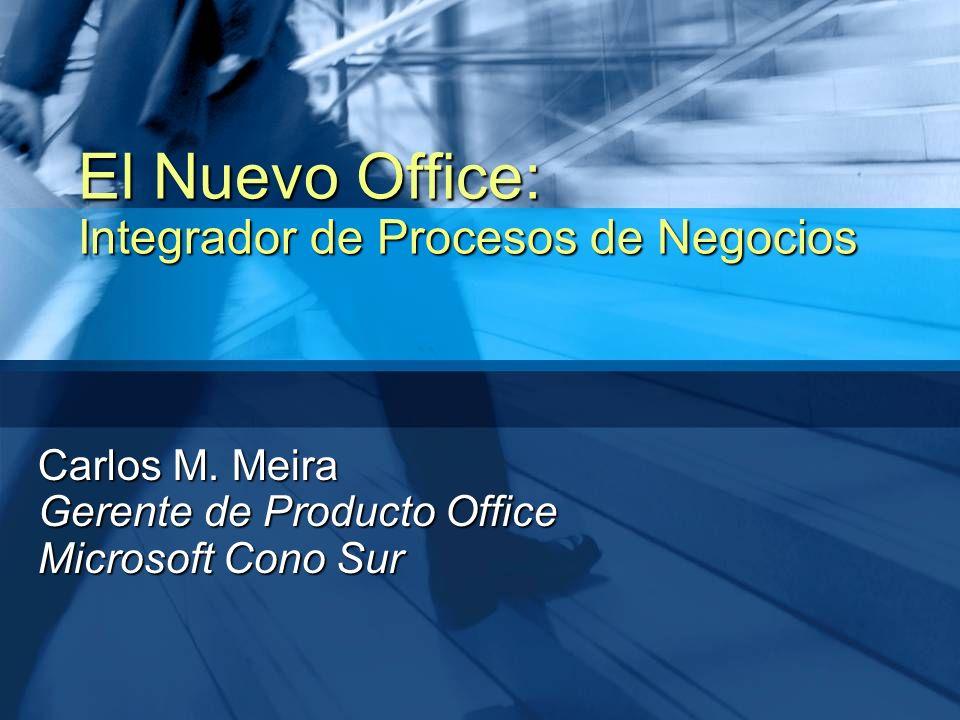 Carlos M. Meira Gerente de Producto Office Microsoft Cono Sur El Nuevo Office: Integrador de Procesos de Negocios