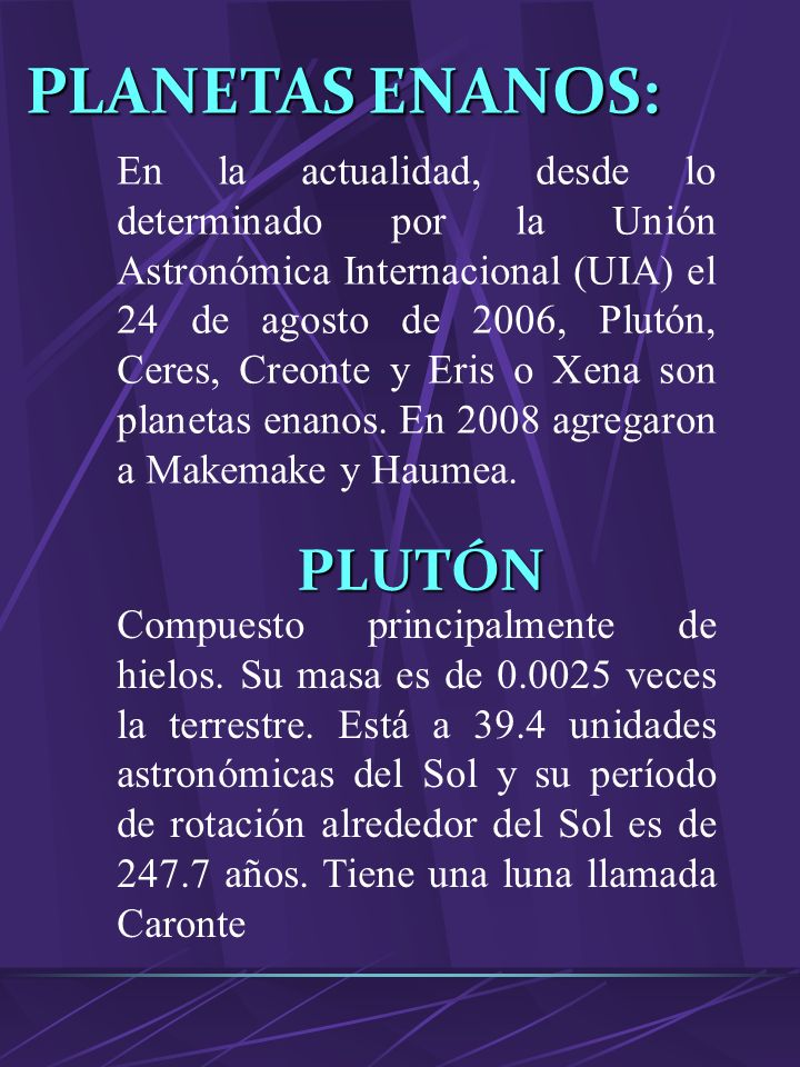 URANO Planeta gaseoso, séptimo a partir del Sol. Su masa es 14.6 veces la terrestre. Su distancia al Sol es de 19.2 unidades astronómicas y su período