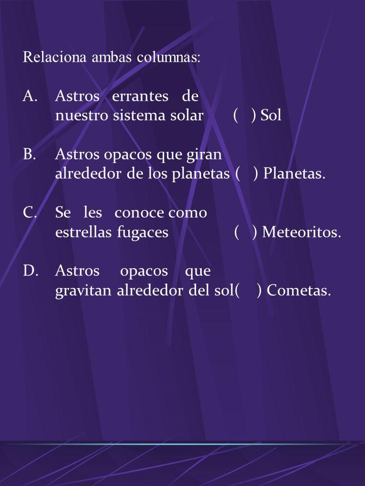 4. El planeta mas próximo al sol: a.Júpiter. b.Neptuno. c.Marte. d.Mercurio. 5. Planeta de mayor tamaño: a.Venus. b.Urano. c.Tierra. d.Júpiter. 6. El