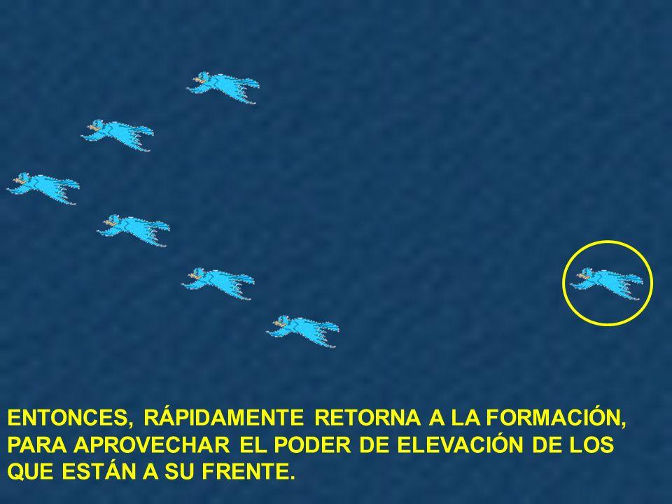 SIENTE LA RESISTENCIA DEL AIRE Y LA DIFICULTAD DE VOLAR SÓLO.