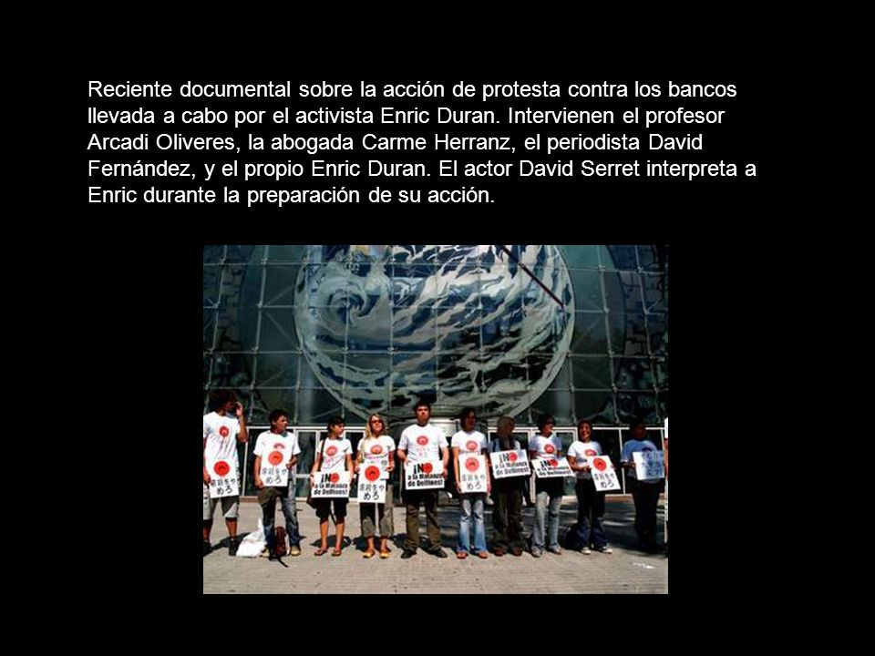 Enric Duran explica su acción de protesta (2 de 2) (02:11 minutos) Subtitulado por SubtUtiles