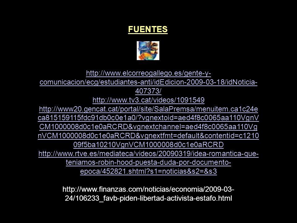 FUENTES http://www.17-s.info/es http://www.17-s.info/es/crisis http://www.17-s.info/sites/www.podem.cat/files/PODEMOSCAST.pdf http://www.17-s.info/es/