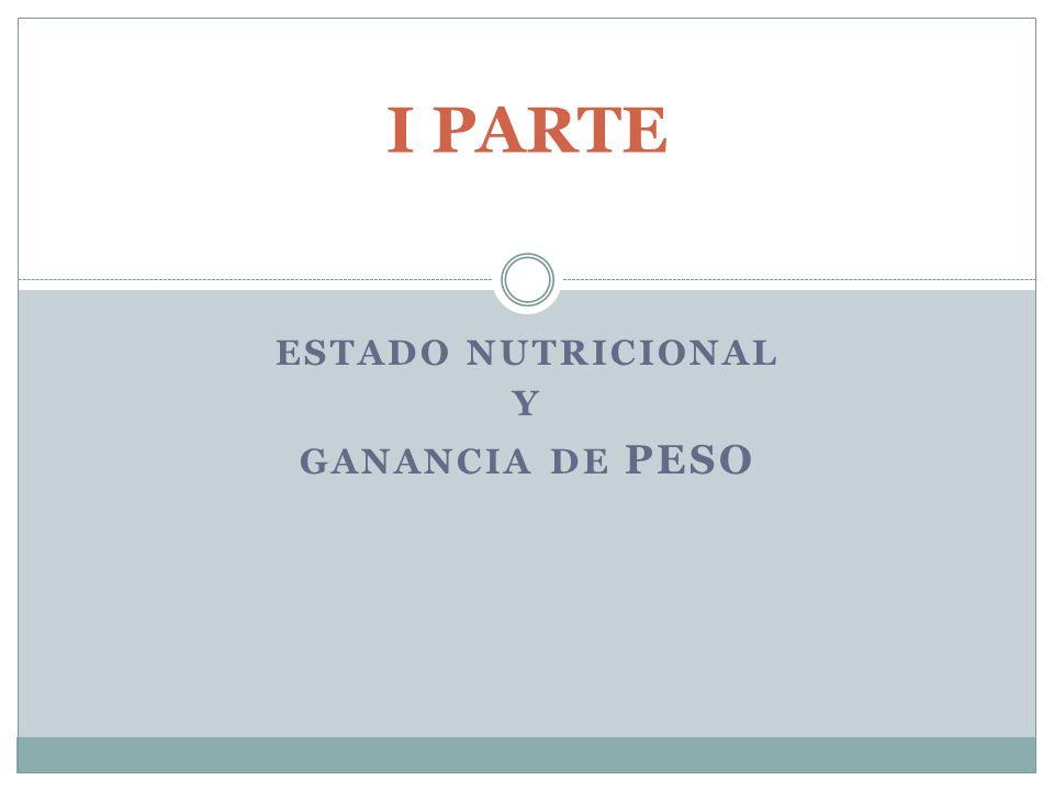 ESTADO NUTRICIONAL Y GANANCIA DE PESO I PARTE
