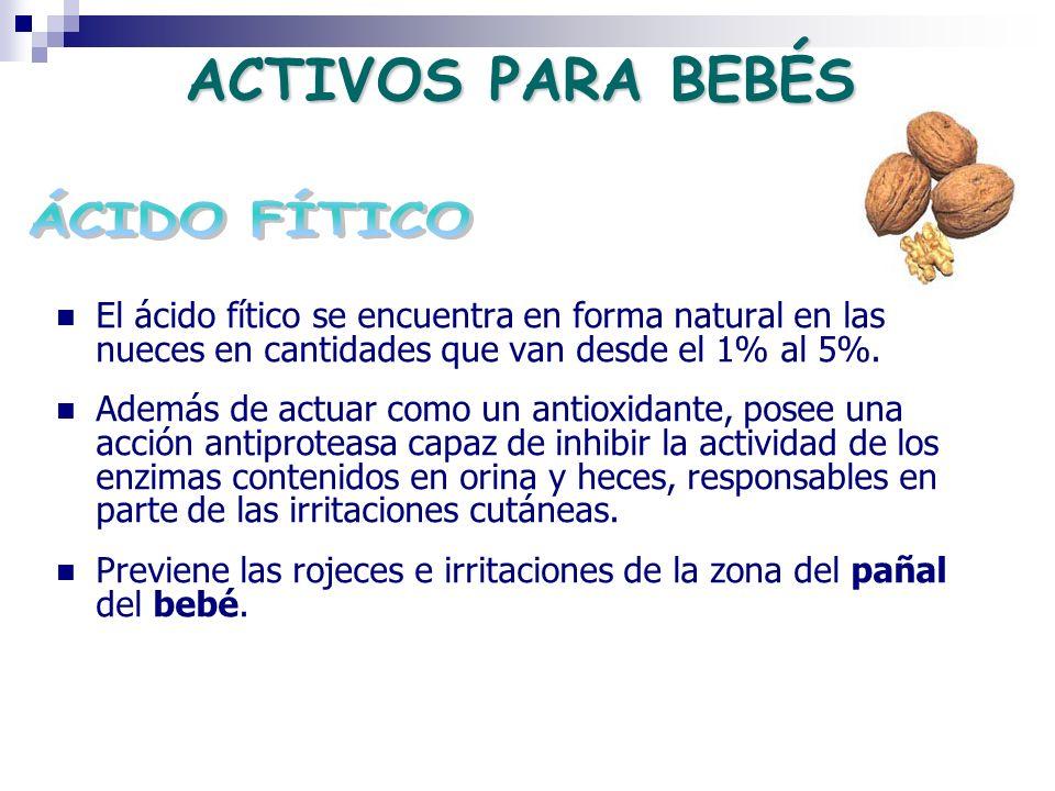El ácido fítico se encuentra en forma natural en las nueces en cantidades que van desde el 1% al 5%. Además de actuar como un antioxidante, posee una