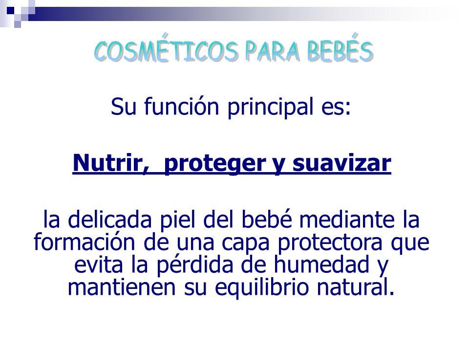 Su función principal es: Nutrir, proteger y suavizar la delicada piel del bebé mediante la formación de una capa protectora que evita la pérdida de hu