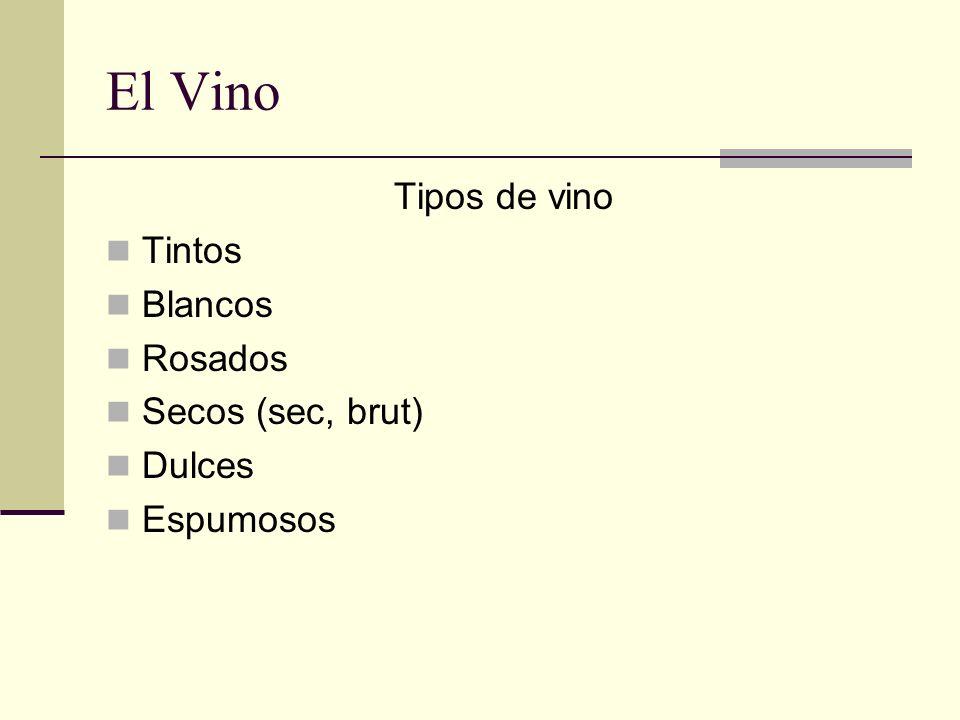 El Vino El uso del vino ha impuesto tradiciones como la forma de las botellas (oscuras para impedir el paso de luz), y la forma de algunas copas para beberlo.