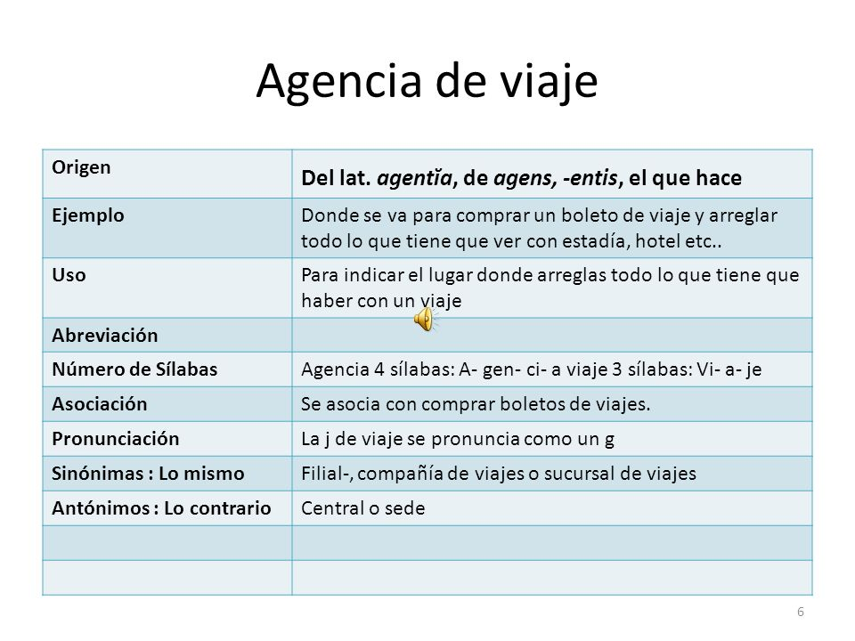 Agencia de viaje Origen Del lat.