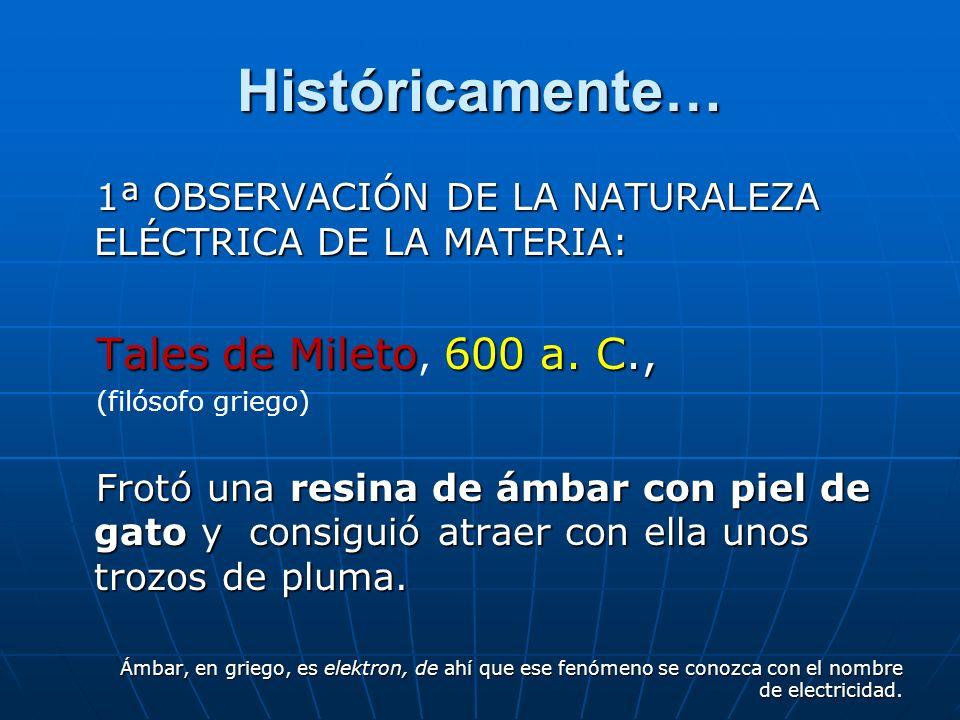 Fenómenos eléctricos: ELECTROSTÁTICA En la naturaleza hay electricidad en todas partes. Las tormentas (*) son quizás las manifestaciones más violentas