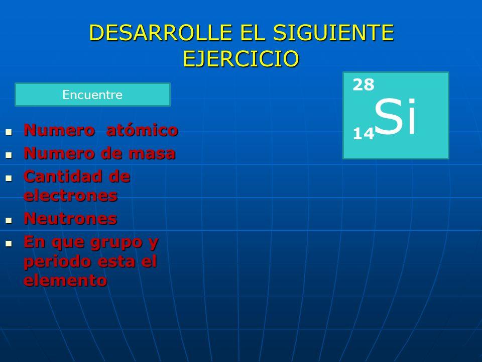 El elemento de número atómico = 79 es El elemento de número atómico = 79 es ¿En que grupo está el elemento? ¿En que grupo está el elemento? Au = oro E