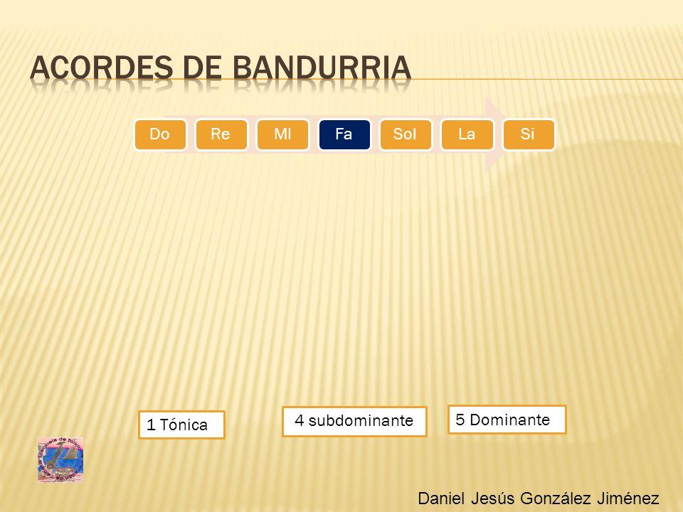 1 Tónica 4 subdominante DoReMIFaSolLaSi 5 Dominante Daniel Jesús González Jiménez