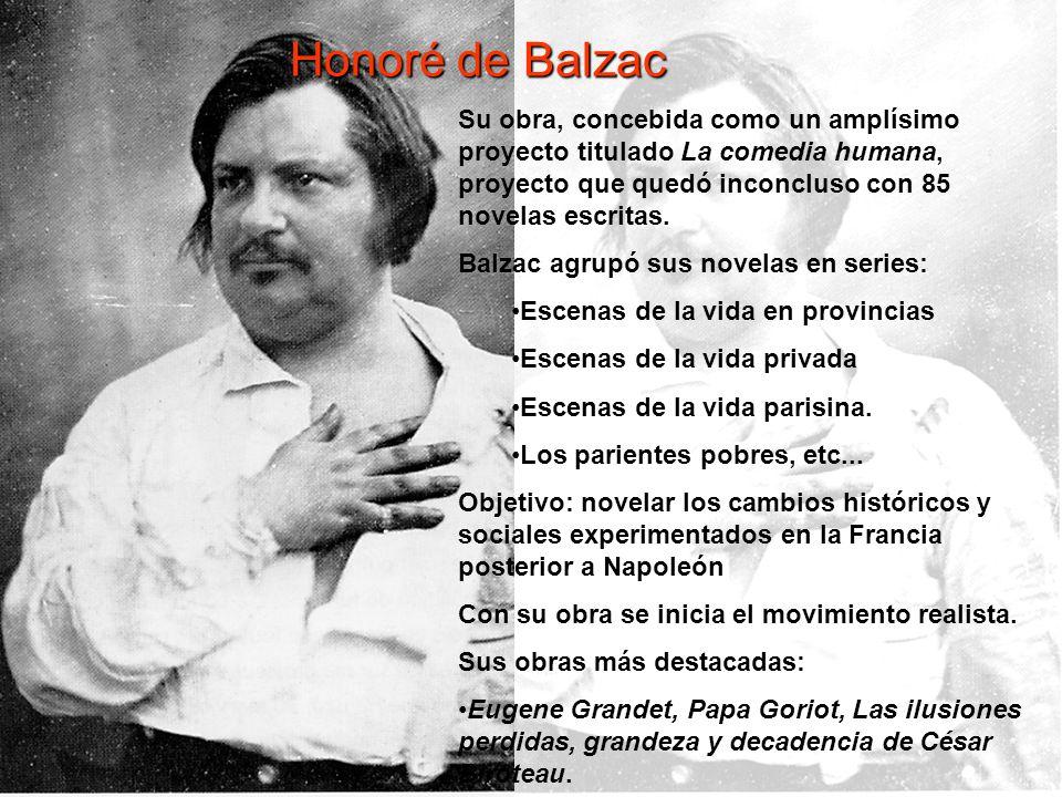 ©Jesús Pérez-Sevilla Honoré de Balzac Su obra, concebida como un amplísimo proyecto titulado La comedia humana, proyecto que quedó inconcluso con 85 n