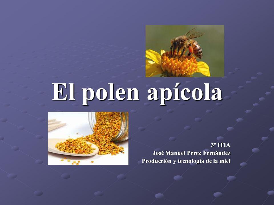 El polen apícola 3º ITIA José Manuel Pérez Fernández Producción y tecnología de la miel