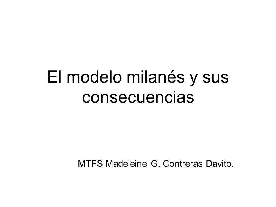El modelo milanés y sus consecuencias MTFS Madeleine G. Contreras Davito.