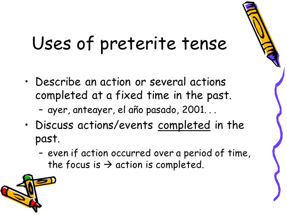 -ir verbs -ir verbs with a stem-change in the present tense, continue to have a stem-change in the preterite tense –but it is a different stem-change