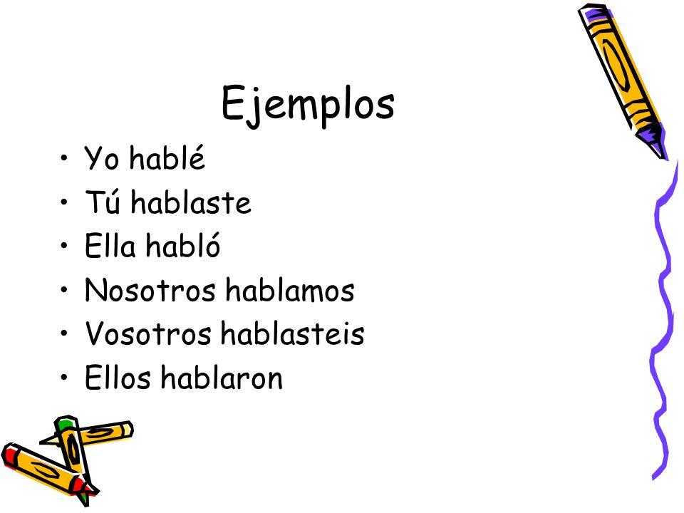 Exceptions When a regular verb ends in: –car (buscar, explicar, tocar, sacar) –gar (jugar, llegar, apagar, colgar) –zar (empezar) a spelling change occurs in the yo form.