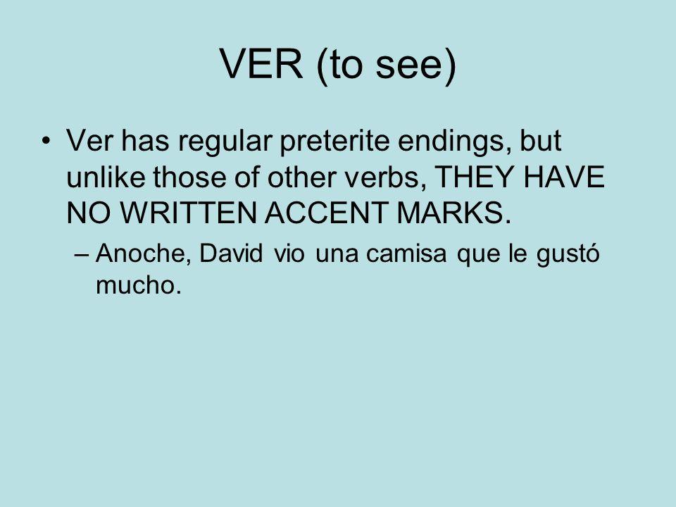 Car, Gar, Zar verbs Verbs that end in - car -gar and –zar have a spelling change in the YO form of the preterite.