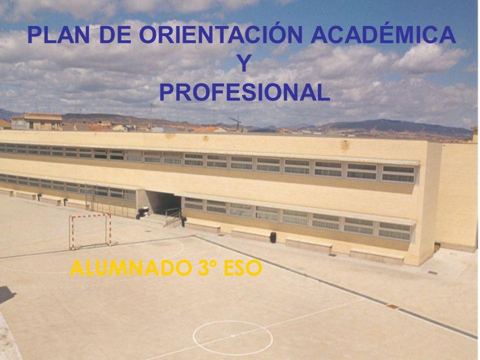 PLAN DE ORIENTACIÓN ACADÉMICA Y PROFESIONAL ALUMNADO 3º ESO