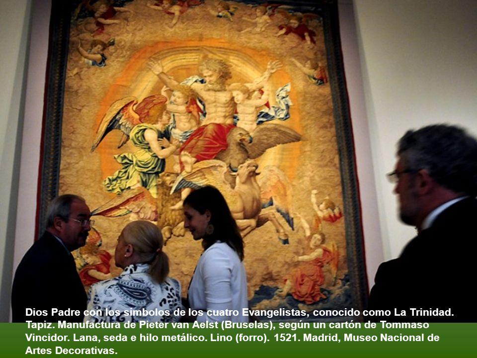 Giulio Romano según un dibujo de Rafael. La visión de Ezequiel, Óleo sobre tabla, 1516-1517, Florencia, Galleria Pitti