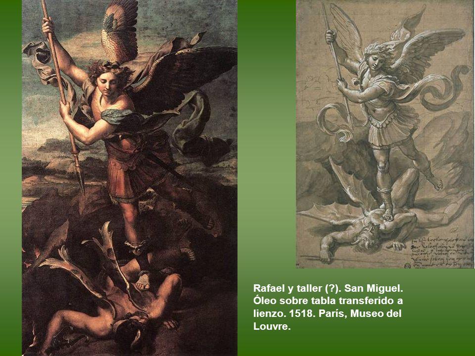Dios Padre con los símbolos de los cuatro Evangelistas, conocido como La Trinidad. Tapiz. Manufactura de Pieter van Aelst (Bruselas), según un cartón
