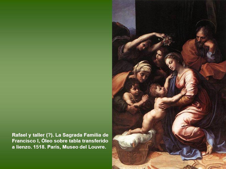 Rafael (?) y taller. San Juan Bautista en el desierto. Óleo sobre tabla. h. 1517–1518. Florencia, Galleria degli Uffizi