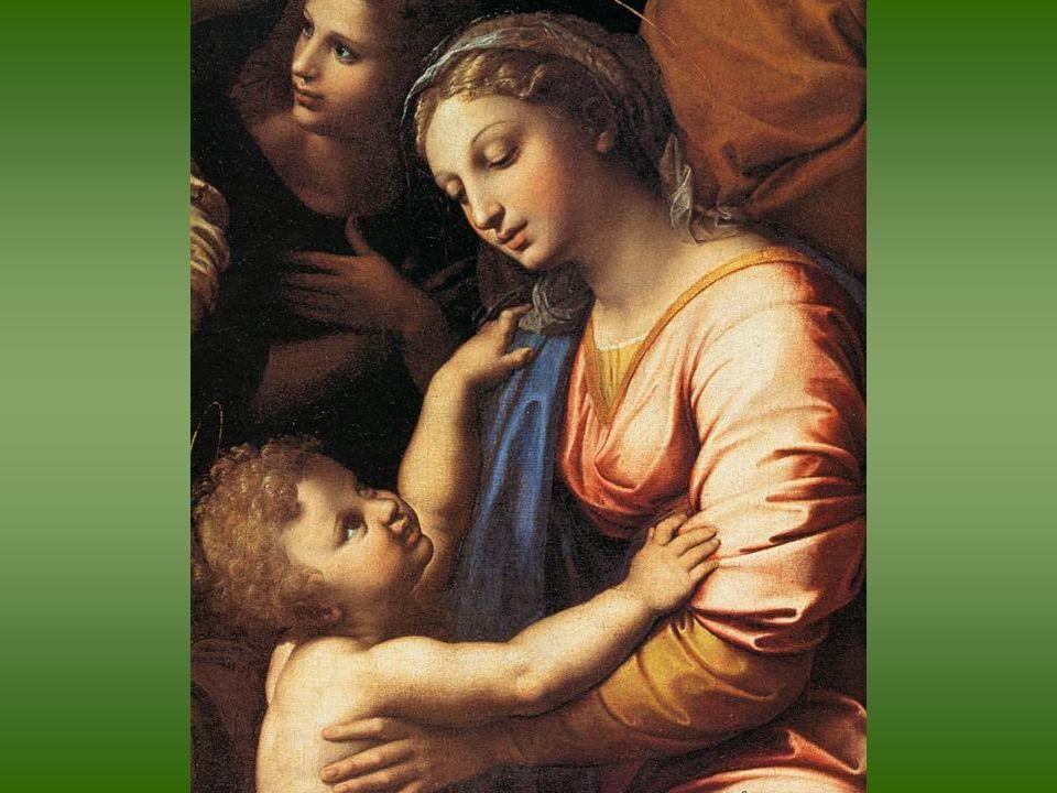Rafael y taller (?). La Sagrada Familia de Francisco I, Óleo sobre tabla transferido a lienzo. 1518. París, Museo del Louvre.
