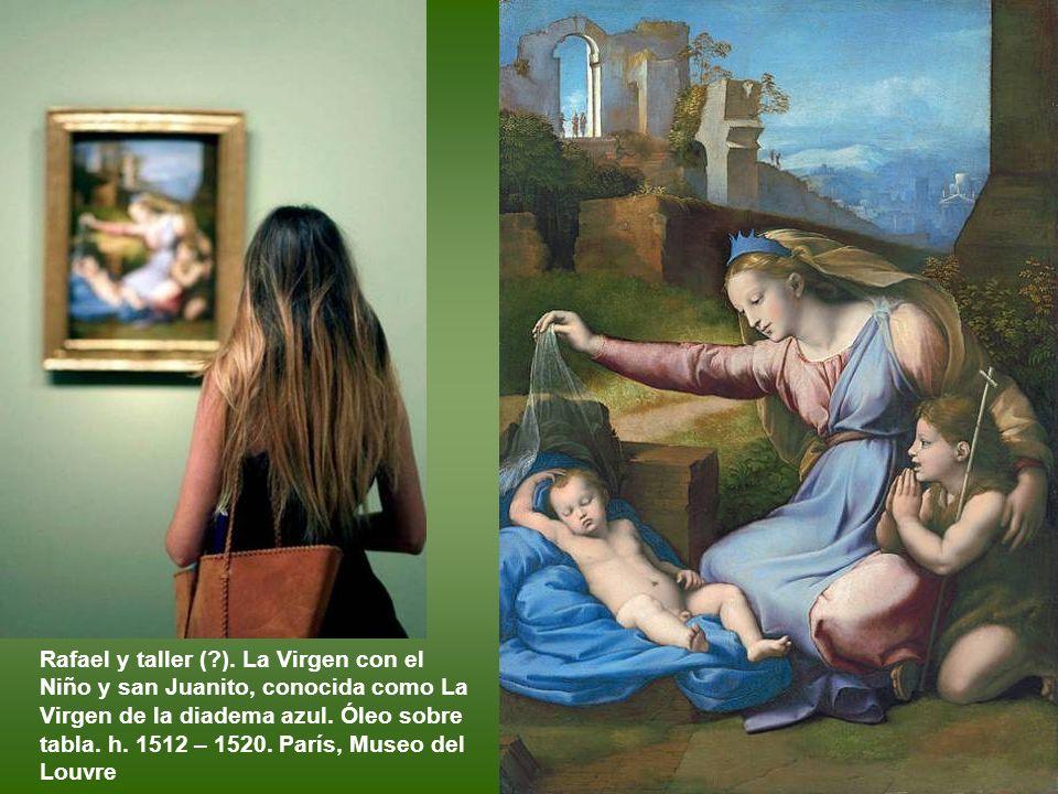 Giulio Romano. La Virgen con el Niño. H 1522. Óleo sobre tabla. Florencia, Galleria degli Uffizi.
