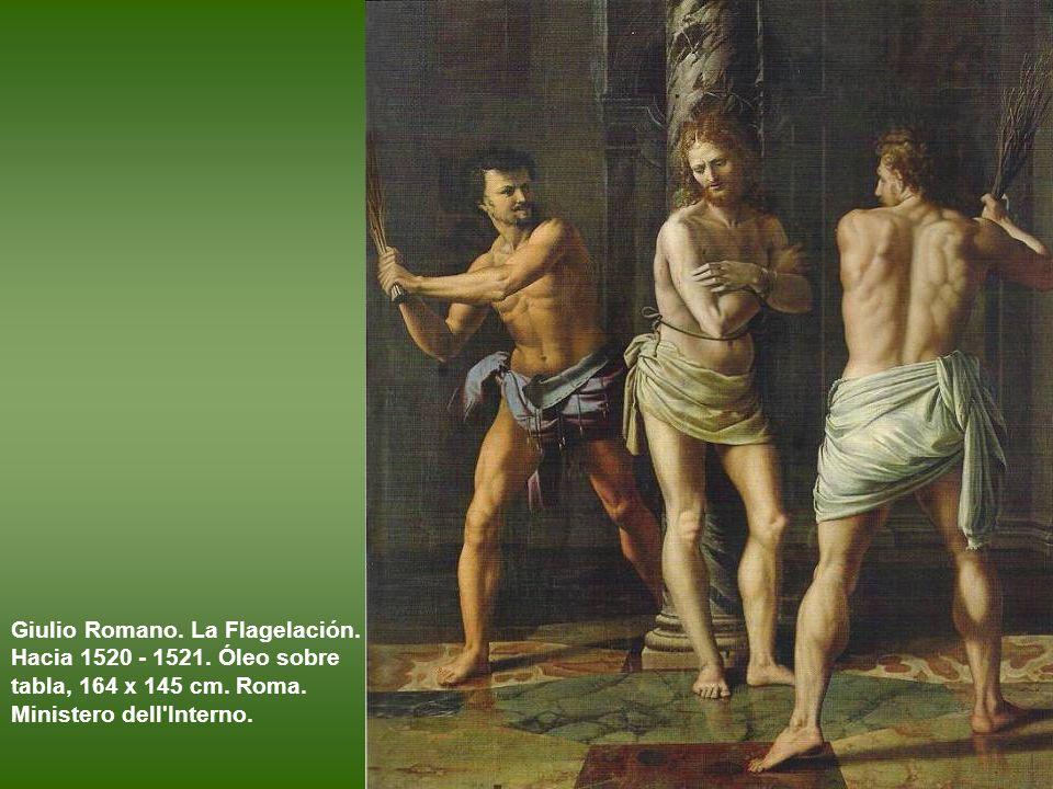 Giulio Romano. La Circuncisión. h 1522. Óleo sobre tabla transferido a lienzo. París, Museo del Louvre.