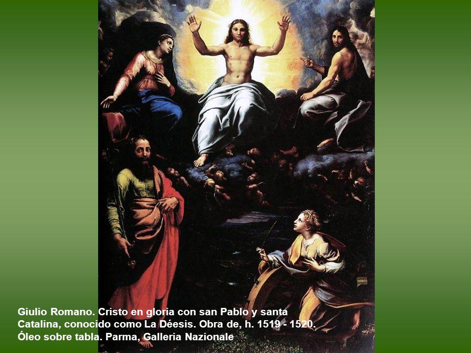 Giulio Romano. La Flagelación. Hacia 1520 - 1521. Óleo sobre tabla, 164 x 145 cm. Roma. Ministero dell'Interno.