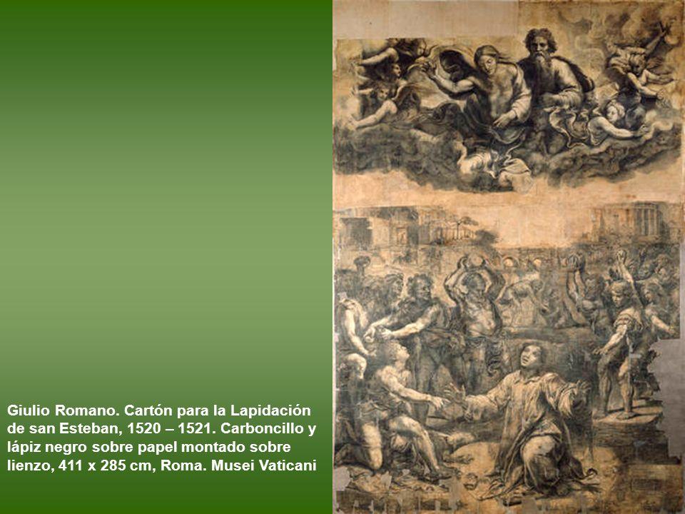 Giulio Romano. Cristo en gloria con san Pablo y santa Catalina, conocido como La Déesis. Obra de, h. 1519 - 1520. Óleo sobre tabla. Parma, Galleria Na