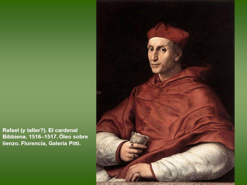 Rafael y taller. Giuliano de Médicis.1515. Óleo sobre lienzo. Nueva York. Metropolitan Museum.