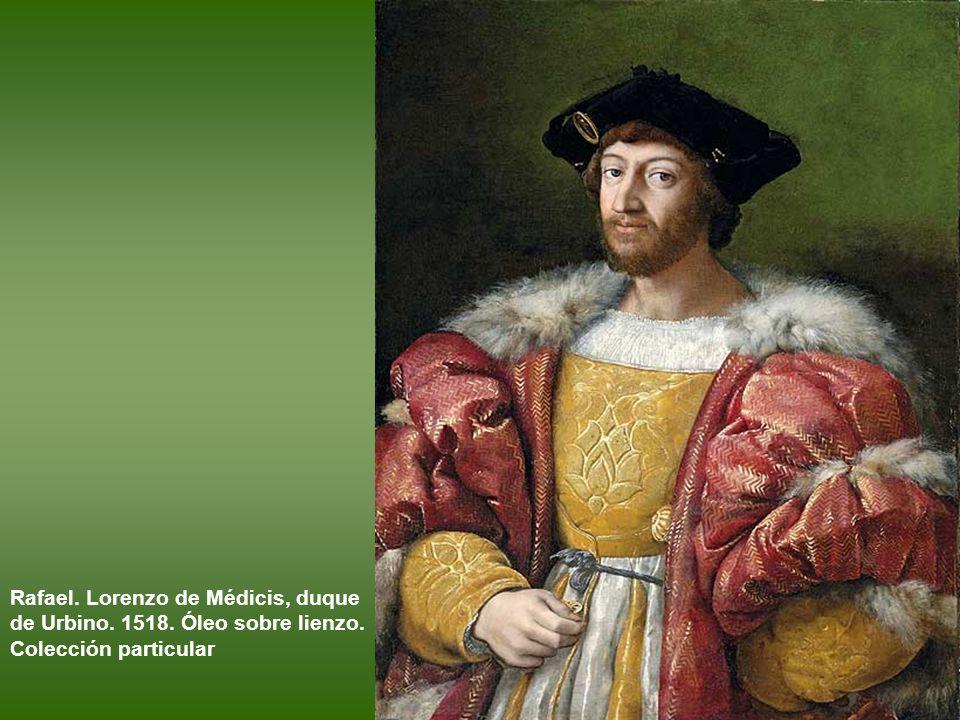 Giulio Romano. Retrato de un joven. 1518– 1519. Óleo sobre tabla. Madrid, Museo Thyssen-Bornemisza